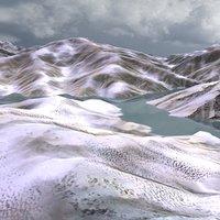 max 16km snowy mountain landscape
