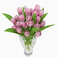 3d vase tulips model