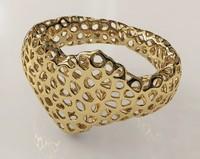 3ds bracelet heart voronoi