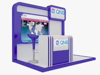 kiosk partition booth 3d max
