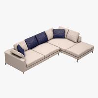 3d l couch b model