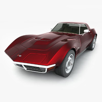 chevrolet corvette stingray 1970 3d max