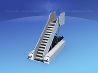 3d model airport stairs