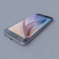 samsung galaxy s6 blue 3d model