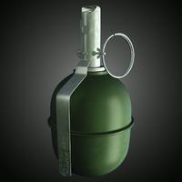 rgd-5 hand grenade 3d max