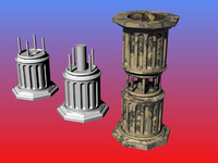 greek column 3d model