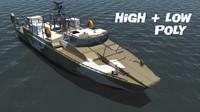 combat boat bk-16 3d model