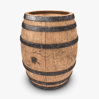 wooden barrel 3D models