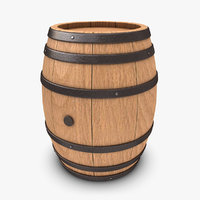 3d model realistic barrel 2