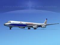 douglas dc-8 airliners 3d max