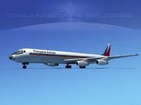 douglas dc-8 airliners 3d dxf