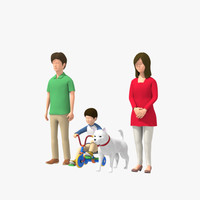 3d family man 03 woman