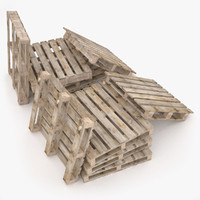 wooden pallets 3d 3ds