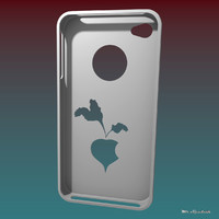 3d iphone 4 case model