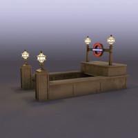 3d model subway entrance
