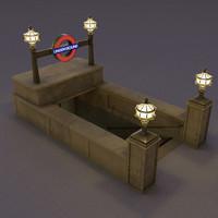 subway entrance obj