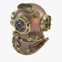 3d 3ds diving helmet