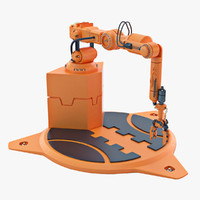 Industrial Robot Arm 04