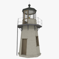 3d light house interior exterior model