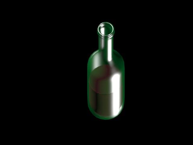 3d model wine bottle. Black Bedroom Furniture Sets. Home Design Ideas
