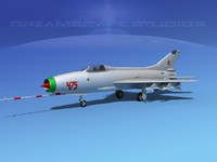 3d model mig-21 fishbed jet fighter