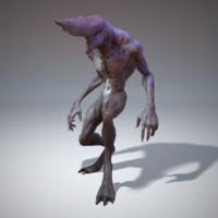 character creature 3d model