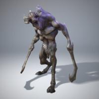 3d 3ds character monster peaks