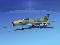 3d mig-21 fishbed jet fighter model