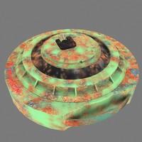 3d model anti tank