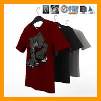 t-shirt hanger 01 3d max