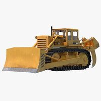 bulldozer rigged 3d model