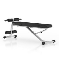 black adjustable gym bench 3d model