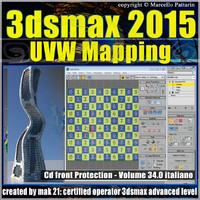 3ds max 2015 UVW Mapping v.34 cd front