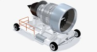 aircraft engine transport device 3d max