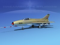 3d max mig-21 fishbed jet fighter
