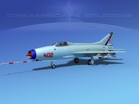 mig-21 fishbed jet fighter 3d model