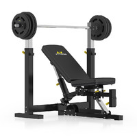 black adjustable weight bench 3d model