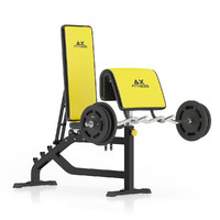 black arm curl bench max