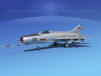 mig-21 fishbed jet fighter 3d dxf