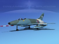 3d super sabre f-100 jet fighter