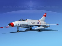 3d super sabre f-100 jet fighter model