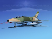 3d obj super sabre north american