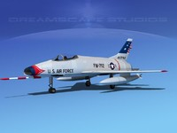 super sabre north american 3d dxf