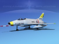 super sabre f-100 jet fighter dwg