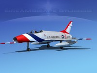 super sabre f-100 thunderbirds 3d lwo