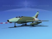super sabre f-100 jet fighter 3d max