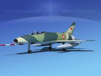 3ds max super sabre f-100 jet fighter
