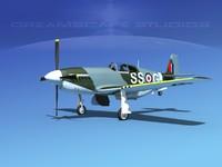 3d p-51 mustang x model