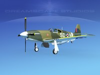 3ds max p-51 mustang x
