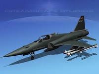 3d northrop tigershark f-20 fighter